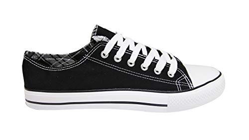 Mapleaf - Zapatos con suela de caucho auténtico, simple y clásico para hombres y mujeres, Negro (Negro ), 37 EU X-Étroit