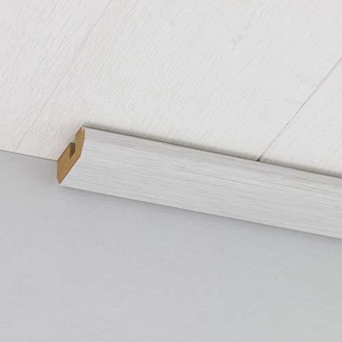 Paneel-Abschlussleiste Abdeckleiste mit Schattenfuge aus MDF in Allure Hellgrau 2600 x 35 x 17 mm