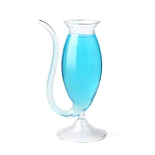 BiaBai Copa de vino de 340M Filtro de boca larga creativo Cristal de cristal Copa de ratón de espíritu Barra de personalidad Copa de cóctel molecular