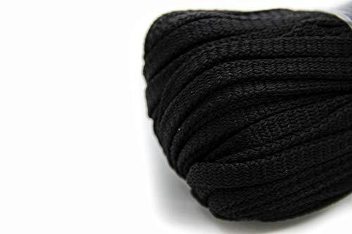 NTS Nähtechnik 50m Flachkordel aus Polyester ohne Kern 8mm breit (Schwarz)
