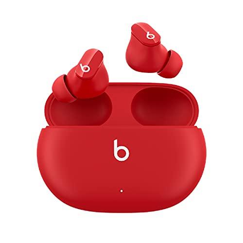 BeatsStudioBuds – Auricolari bluetooth totalmente wireless con cancellazione del rumore – auricolari senza fili resistenti al sudore, compatibili con Apple e Android, Bluetooth di Classe1 – Rosso