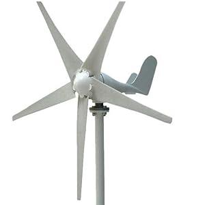 Wangkangyi Generador de Viento de Turbina 400W 24V 5 Palas Generador de Viento Generador de Turbina de Viento