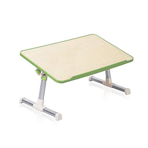 PULLEY-C - Mesa para portátil de tamaño estándar con asa, altura y ángulo ajustable para sentarse, mesa de cama y desayuno, soporte plegable para portátil C