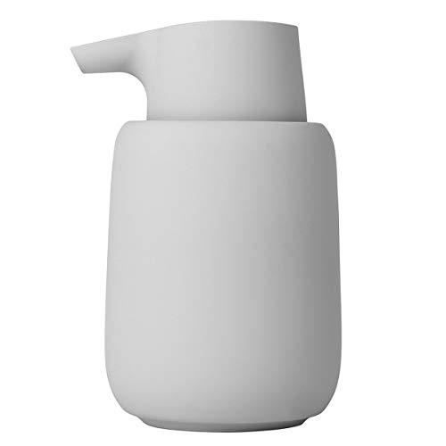 blomus Sono Micro Chip - Dispenser di Sapone in Ceramica, plastica, Silicone, Magnete, Altezza: 14 cm, profondità: 9,5 cm, Diametro: 8,5, capienza 0,25 l