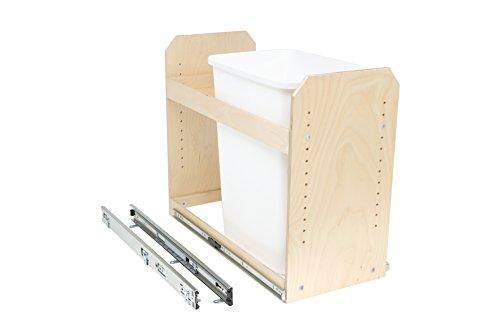 "Slide-A-Shelf AMC-PL-TSU-12W18D20H-F Baltic Birch Single Bin Trash/Recycle Center with Full Extension, 12"" x 18"" x 20"""