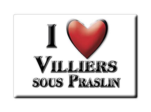 Enjoymagnets VILLIERS Sous PRASLIN (10) Souvenir IMANES DE Nevera Francia Basse Normandie IMAN Fridge Magnet Corazon I Love