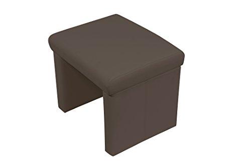 Cavadore kruk zitbank hoekbank voorbank CHARISSE/keukenbank Kruk. 55 cm donkerbruin