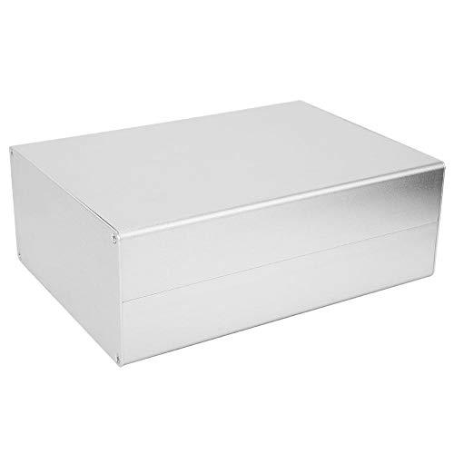 Aluminium-Projektbox, 80x160x220mm Mattes Silber Elektronisches Gehäuse Gehäuse DIY Aluminiumbox GPRS-Leiterplattenschale