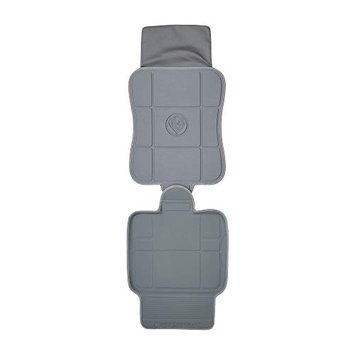 Prince Lionheart 2 Stage SeatSaver Protector, Prevents Isofix Car Seat Damage, Wipes Clean, Works Front & Rear Facing Car Seats & Boosters, High-Density Foam, Spill Barrier, Kick Guard - Grey 0299