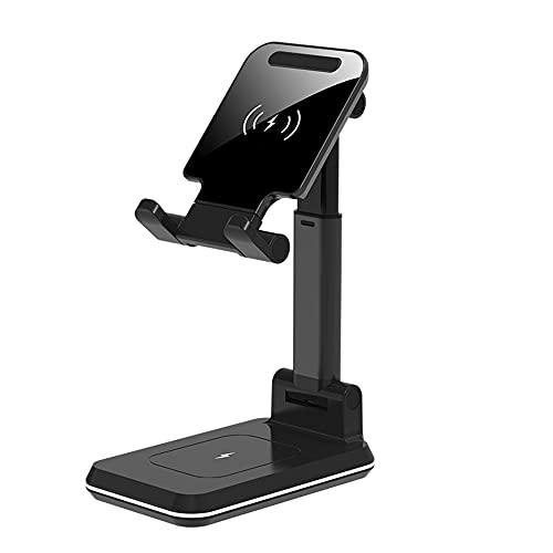 CHENPENG Cargador inalámbrico 2 en 1, estación de Carga inalámbrica Qi de 10 W, Compatible con iPhone 11/11 Pro MAX/XR/XS/X / 8 / 8P