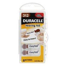 DURACELL easy tAB 312 pR41 lot de 6