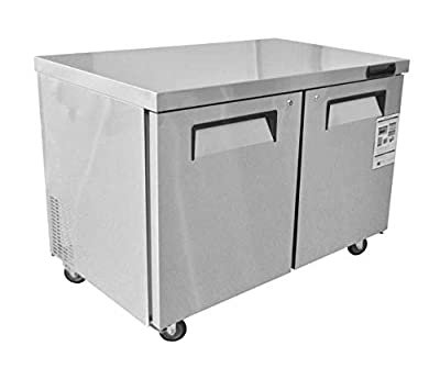 "ETL Stainless Steel 60"" Undercounter Freezer"