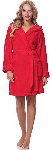 Merry Style Bata con Capucha Mujer 1GN2S (Rojo, L