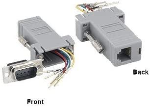 Kentek D-Sub Modular Adapter DB9 Male to RJ12 RJ-12 Female M/F Serial Jack Plug Phone Telecom PC