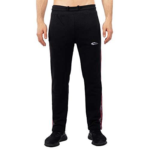 SMILODOX Herren Jogginghose Streak | Trainingshose für Sport Fitness Gym Training & Freizeit | Sporthose - Jogger Pants - Sweatpants Hosen, Farbe:Schwarz, Größe:XXXL