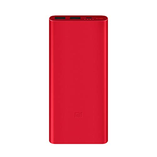 Mi 10000mAH Li-Polymer Power Bank 2i (Red) with 18W Fast Charging