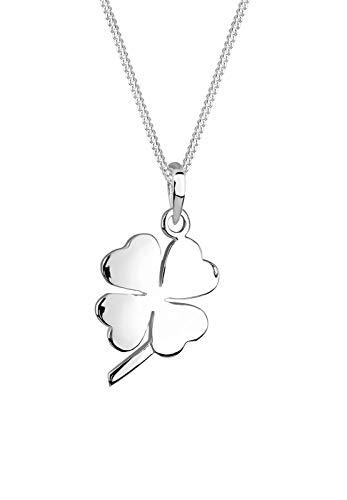 Elli Halskette Elli Damen Halskette mit Glücksbringer Kleeblatt Anhänger aus 925 Sterling Silber
