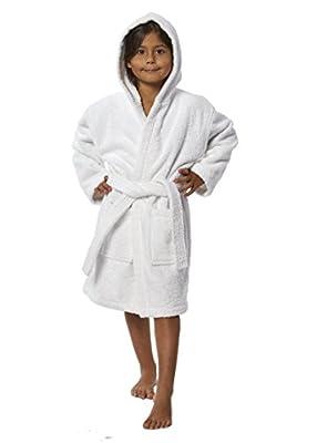 TurkishTowels Parador Hooded Terry Kids Bath Robe, 100% Cotton, Made in Turkey