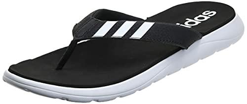 adidas Herren Comfort Flipflop, CBLACK/FTWWHT/CBLACK, 44 EU