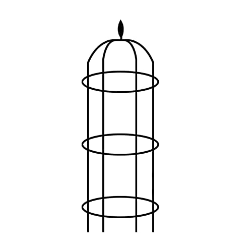 likeitwell Traliccio da Giardino per Piante Rampicanti Supporto Rotondo per Rampicanti Torre per Piante Rampicanti Il Tubo di Ferro Rivestito in Plastica di Alta qualità Non Arrugginisce Noble