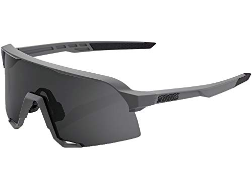 100%, Occhiale S3 Grey, Smoke Lens Unisex adulto, Nero, Taglia unica
