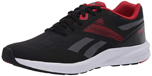Reebok Men's Runner 4.0 Running Shoe, Black/True Grey/Excellent Red, 10.5 M US
