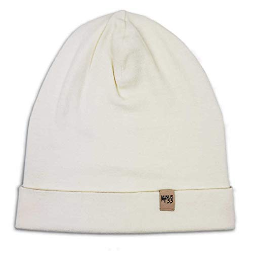 Minus33 Merino Wool Ridge Cuff Wool Beanie Natural Cream One Size