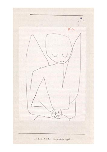 Spiffing Prints Paul Klee - Vergesslicher Engel - Large - Archival Matte - Unframed