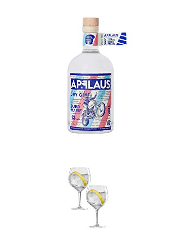 Applaus Gin - SÜDMARIE - Stuttgart Trocken 0,5 Liter + Spiegelau Gin & Tonic 4390179 2 Gläser