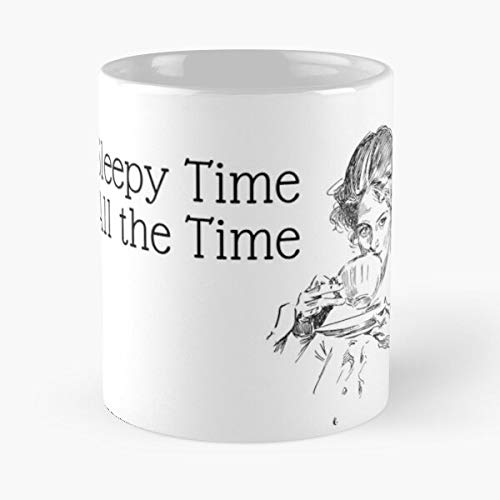 Sleepy Time All The - What's Tea Classic Mug Novelty Ceramic Cups 11oz, Unique Birthday and Holiday Gifts for Mom Mother Father-teiltspe