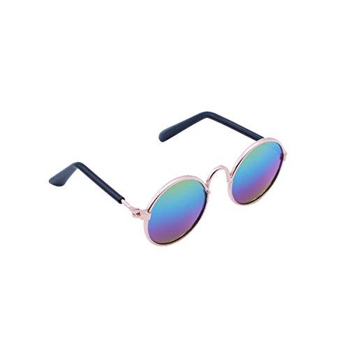 UKCOCO Mode mascotas Gafas de sol, mascotas perros Gafas Gafas de sol, gafas de sol, gatos Cachorros Gatitos Modelos vasos mascotas fotos Requisiten (Azul y verde)