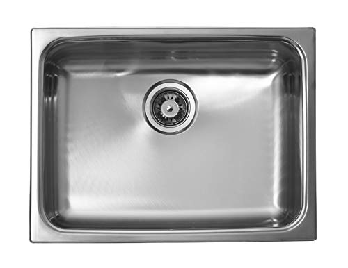 Ukinox UN610 Modern Dual Mount Single Bowl Stainless Steel Kitchen Sink