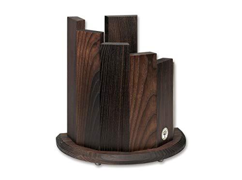 Böker SOLINGEN® Profi Messerblock Makassar magnetisch - XL Messer-Bock halbrund - Messer-Ständer ohne Messer - Holz Messerblock dunkel unbestückt