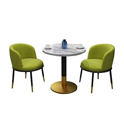 Krzesło łączone Kuchnia Krzesła do jadalni, z metalowymi stopami Biuro Spotkanie Recepcja Biuro sprzedaży Negocjuj połączenie stołów balkonowych i krzeseł (kolor: tkanina zielona)