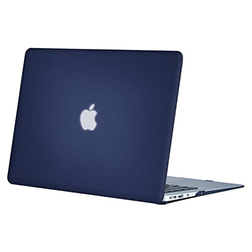 MOSISO Ultra Slim Plastic Hard Shell Snap On Case Cover Compatible with MacBook Air 11 Inch (A1370 & A1465), Navy Blue