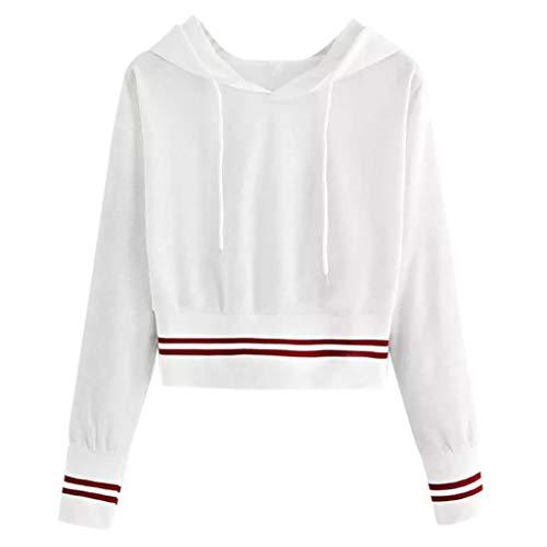 COVERMASON Femme Casual Pull Hoodie Sweat Shirt à Manche Longue Col Roulé Hiver Sweatshirt à Capuche Chemisier S-XL