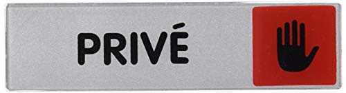 Novap 4033402 Plaquette signalétique plexiglas adhésive, Argent