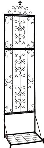 ガーデンガーデン IBフェンス アイアン ローズパネル付きプランターラックセット Lサイズ 幅45×奥行35×高さ190cm トレリス IBF-RSPNL-RACKST190