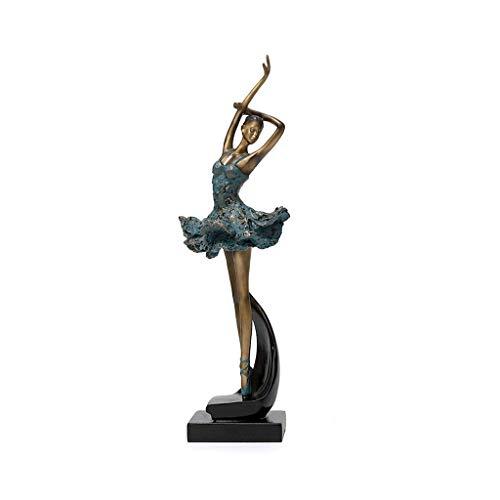 Ballet Girl ornement de danse décoration bleue danse style chinois néoclassique entrée moderne salon Rollsnownow (Couleur : B)