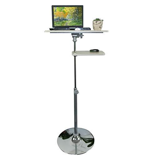 SEESEE.U Notebook Laptop Schreibtisch Besprechungsraum Mobiler Projektor Stehtisch Tragbarer Desktop Kann gekippt Werden Höhenverstellbare Schallwand Design Hellgrau 4 Größe (Farbe: B, Größe)