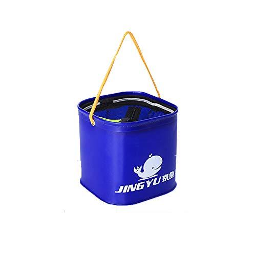 JoyFan Seau de pêche Pliable résistant à l'usure en EVA épais pour équipement de pêche 20CM Without Handle Noir foncé