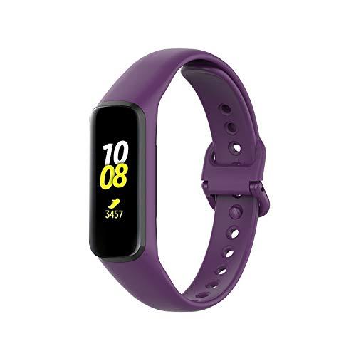 GQFDBS Armband Kompatibel mit Samsung Galaxy Fit2 R220, Ersatz Armband aus Silikon für Sport Armbänder, Sanft Ersatz Armband aus Silikon für Sport Armbänder für Damen Männer (G)