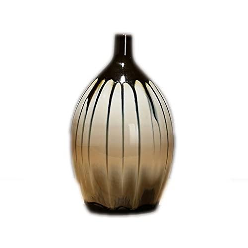 FEANG Jarrón chino de cerámica para flores, floreros decorativos esmaltados para decoración del hogar, elegante jarrón para repisa, mesa, decoración de sala de estar (tamaño: 27 cm)