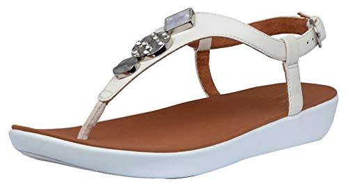 FitFlop Women's Sandals Flip-Flop, Stone, 6