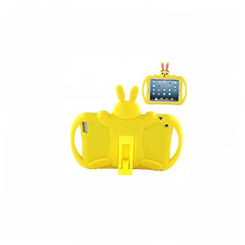 Jorzer Caja De Dibujos Animados Compatible Con 2 3 4 Niños Silicone Suave Tableta Trasera Cubierta Protectora Amarillo, Accesorios Para Tabletas