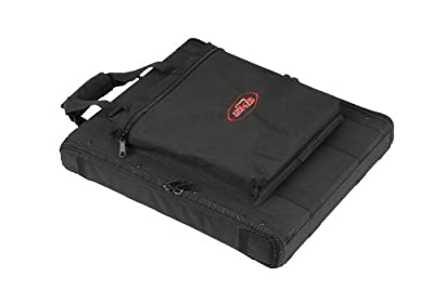 SKB 1U Soft Rack Case with Steel Rails, Heavy Duty Zippers, Outer Pocket and Shoulder Straps