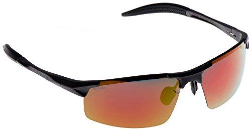 Cressi XDB100253 Gafas de Sol, Unisex Adulto, Negro Brillante/Lentes Naranja, Cabrio