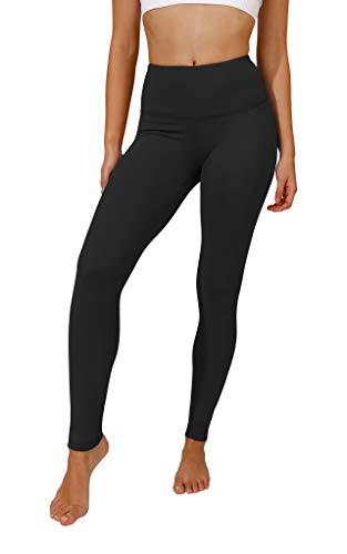 90 Degree By Reflex High Waist Squat Proof Interlink Leggings for Women - Black - Medium