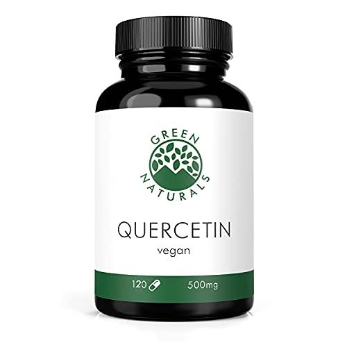 Quercetin (120 Kapseln á 500mg) - deutsche Herstellung - 100% Vegan & Ohne Zusätze - Vorrat für 4 Monate. Bonus Venen Ratgeber (eBook)