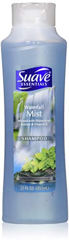Suave Essentials Waterfall Mist Shampoo 12 oz (Pack of 3)